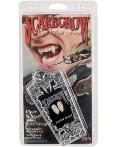 Scarecrow Viper Split Deluxe 10pc One Size Custom Fangs Coffin Kit, White