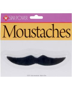 Star Power Casanova Costume Accessory Moustache, Black, One Size