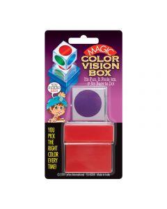 Empire Magic Magic Color Vision Box 1.5in Close-Up Magic Trick, Red Multicolors
