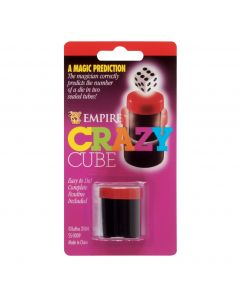 "Empire Magic Crazy Cube Mind Reading Made Easy 3.7"" Magic Set, Black Red"