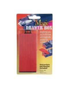 "Vanishing Item Magic Drawer Box 4.25"" Close-Up Magic Trick, Red Black"
