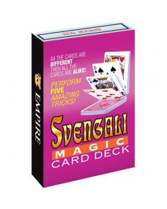 Loftus Svengali Magic Bridge Size Trick Card Deck For Small Hands, Red