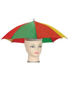 Star Power Stay Dry Rainbow Classic Umbrella Party Hat, One Size