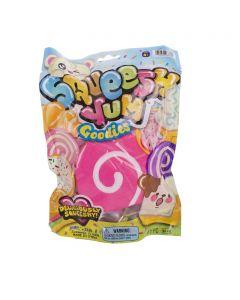 "Squeesh Yums Squishy Sweet Swirls Stocking Stuffer 3.5"" Novelty Toy, Pink White"
