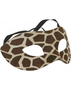 "Star Power Spotted Giraffe Masquerade Half Mask, Brown, One-Size 6.5"" W"