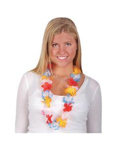"Rinco Festive Hawaiian Luau Assorted 36"" Fabric Leis, 12 Pack"
