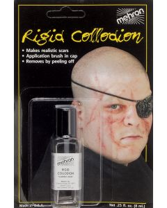 Mehron Rigid Collodion Professional Scarring .125oz FX Liquid, Clear