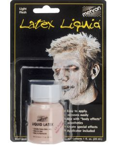 Mehron Special Effects Light Flesh 1oz Latex Liquid, Soft Beige