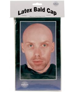 Mehron Bald Cap Special Effects Latex Appliance, Beige, One-Size