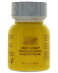 Mehron Face & Body Paint Studio Quality 1oz Liquid Makeup, Yellow