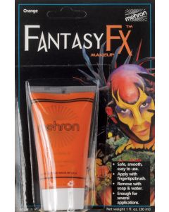 Mehron Fantasy FX Tube Water Based Face Paint 1oz Cream Makeup, Orange