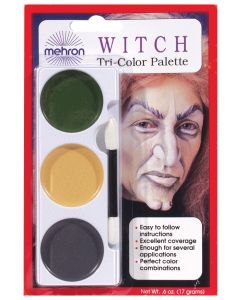Mehron Ghoul Witch Tri Color Cake Halloween Costume .6oz Makeup Palette