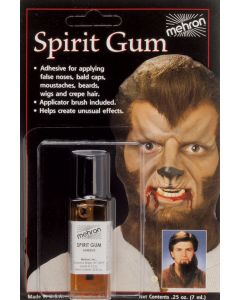 Mehron Spirit Gum Latex Prosthetic Adhesive .125 oz Liquid Makeup, Clear