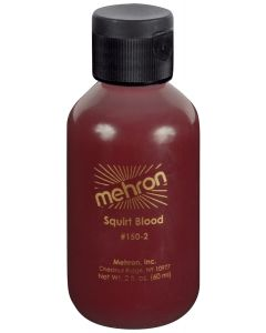 Mehron Performance Squirt Arterial 2oz Fake Blood, Bright Red