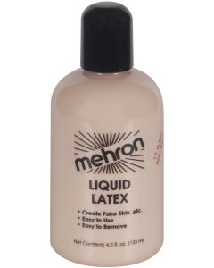 Mehron Special Effects Flesh Costume 4.5oz Latex Liquid, Clear