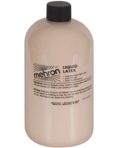 Mehron Special Effects Flesh Costume 16oz Latex Liquid, Clear