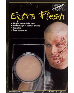 Mehron Extra Flesh Fake Skin Pro FX Makeup, 0.3 oz Special Effects Wax, Beige