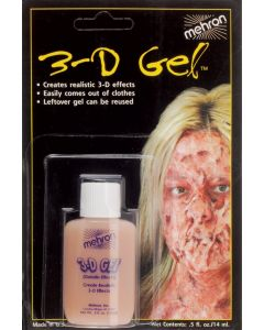 Mehron 3D Gel Professional FX Makeup, 0.5 oz Special Effects Gel, Flesh