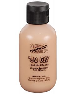 Mehron 3D Gel Professional FX Makeup, 2 oz Special Effects Gel, Flesh