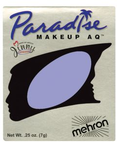 Mehron Paradise AQ Professional Single Refill .25oz (7g) Cake Makeup, Purple