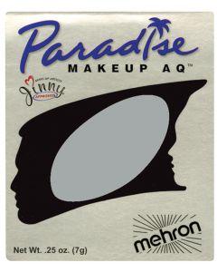 Mehron Paradise AQ Professional Single Refill .25oz (7g) Cake Makeup, Silver