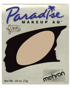 Mehron Paradise AQ Professional Single Refill .25oz (7g) Cake Makeup, Gold