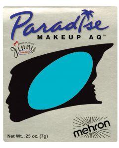 Mehron Paradise AQ Professional Single Refill .25oz (7g) Cake Makeup, Teal