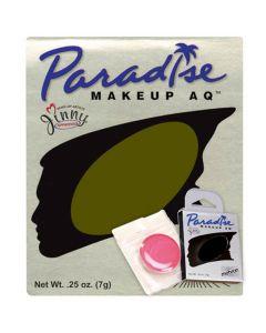 Paradise AQ Professional Single Refill .25oz (7g) Cake Makeup, Olive Green