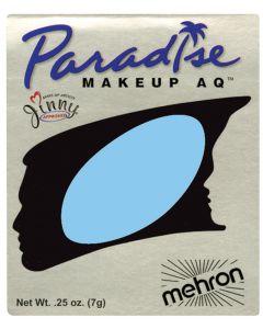 Mehron Paradise AQ Professional Single Refill .25oz (7g) Cake Makeup, Light Blue
