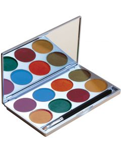 Mehron Paradise Makeup AQ Nuance With Mirror 2pc 56g 8-Color Palette