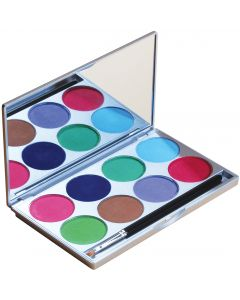 Mehron Paradise Makeup AQ Pastel With Mirror 2pc 56g 8-Color Palette