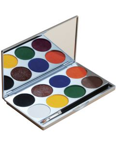Mehron Paradise Makeup AQ Basic With Mirror 2pc 56g 8-Color Palette