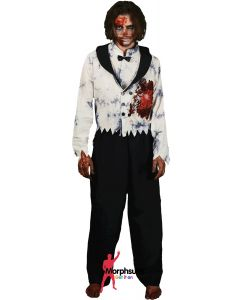 White Beating Heart Zombie Male Unisex Adult Morph Costumes Adult Costume Large