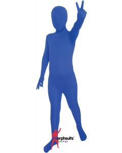 Original Morphsuits Solid Brilliant Blue Kids M-Suits Bodysuit Medium