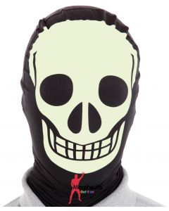 Original Morphsuits Black Glow Skeleton Morph Masks Morph Mask One Size