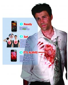 Digital Dudz Red Beating Heart Flesh Iwound Adult Costume One Size
