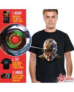 Digital Dudz Black Cyborg Halloween Adult Costume T-Shirt X-Large