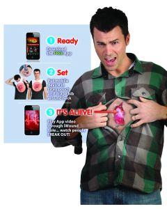 Digital Dudz Beige Beating Heart Zipper Iwound Adult Costume One Size