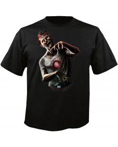 Digital Dudz Black Beating Heart Zombie Costume T-Shirt Medium