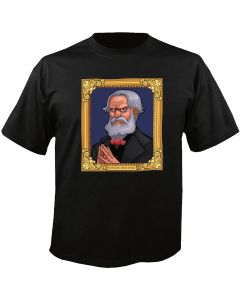 Digital Dudz Black Haunted Mansion Portrait Halloween T-Shirt Large