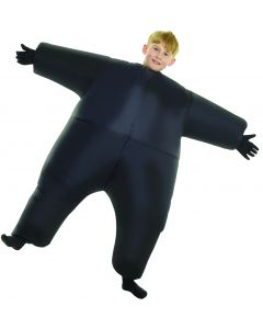 Morphsuits Child Inflatable Kids Costume Mega Morphsuit, Black, One-Size