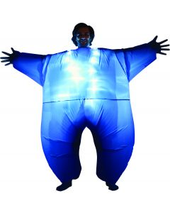 Morphsuits Adult Light Up Adult Mega Morphsuit, Blue, One Size