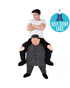 MorphCostumes KJU Piggyback Adult Costume, Grey Tan Black, One-Size