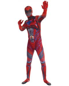 Morph Costumes Saban's Power Rangers Movie Adult Morphsuit, Red, X-Large
