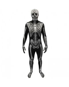 Morphsuits Men Day of the Dead Skeleton Morphsuit, Black White, X-Large