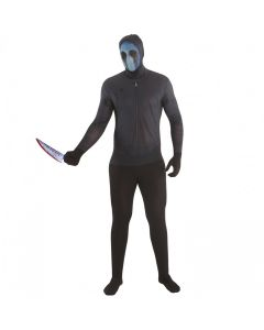 MorphCostumes Eyeless Jack Men's Character Morphsuit, Black Blue, Medium