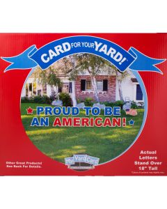 Yard Card Proud to be an American 23pc Patriotic Decoration Sign Kit