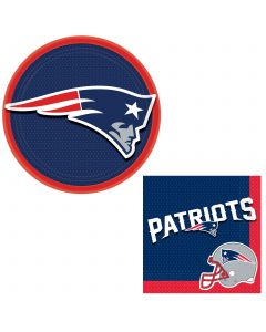 New England Patriots Football Deco 24pc 8 Guests Party Tableware Set