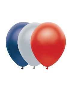"Football New England Patriots Solid Party Colors 3-Color 6pc 11"" Latex Balloons"