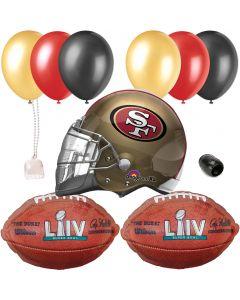 San Francisco 49ers Super Bowl LIV 54 Football Party Helmet 10pc Balloon Pack
